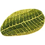 "GUchina Door Rug Mat, Green Leaf Shaped Soft Carpet Slip Resistant Water Absorption Floor Mats For Parlor Living Room Bedroom Home Supplies, 15.7"" x 23.6"""