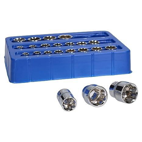 "19mm 22pc 1//4/"" And 3//8/"" Drive Metric MM Shallow Super Lock Socket Set 6mm"