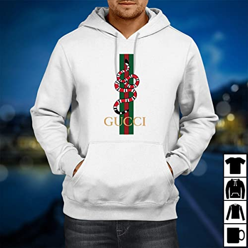 1822551f3 Amazon.com: Gucci Vintage Shirt Snake for Men Women Hoodie White: Handmade