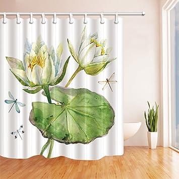 gohebe Nature Home Bad Vorhang Watercolor Flying Libelle mit Nice ...