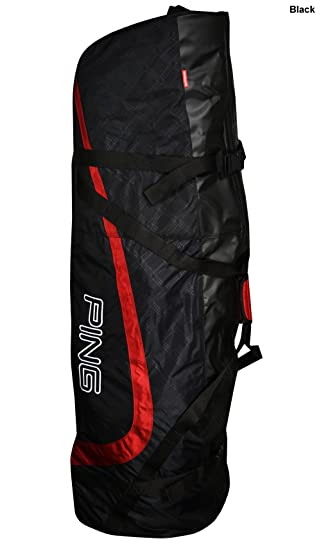 eec7932487 New Ping Golf Travel Cover Travel Bag Black Large Red  Amazon.co.uk ...