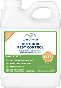 Wondercide Natural Products - EcoTreat Outdoor Pest Control Spray Concentrate – Mosquito, Ant, Roach and Insect Killer, Treatment, and Repellent – Safe for Pets, Plants, Kids- 16 oz