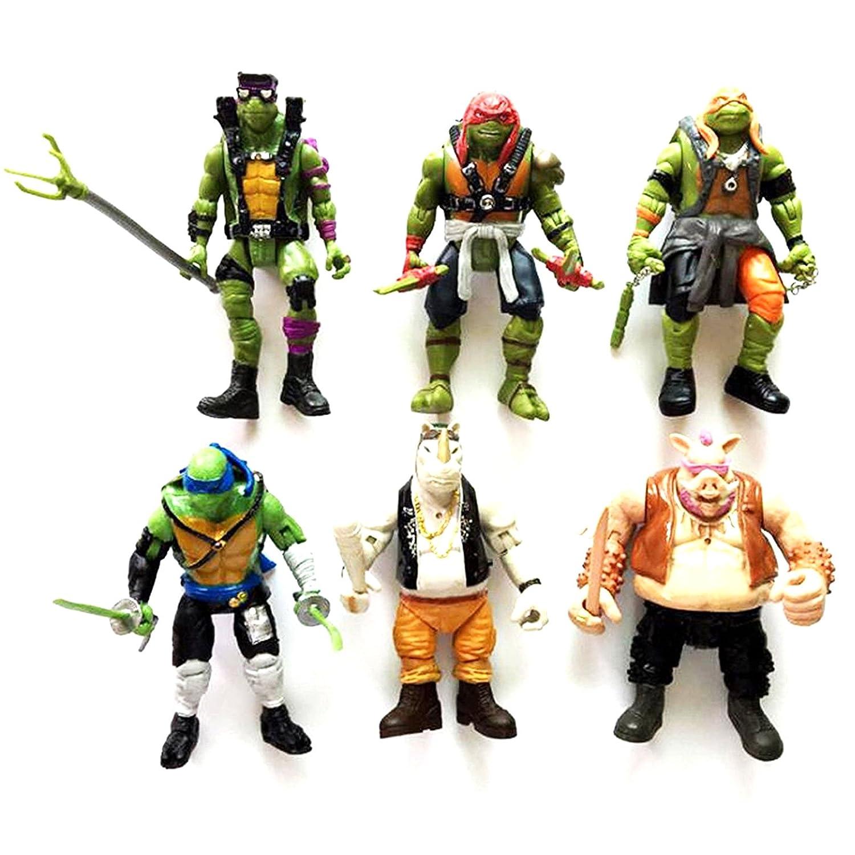 6x Las Tortugas Ninja figuras articuladas de accion de 16 cm ...