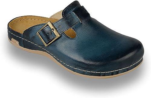 Leon 707 Leather Slip-On Mens Mule