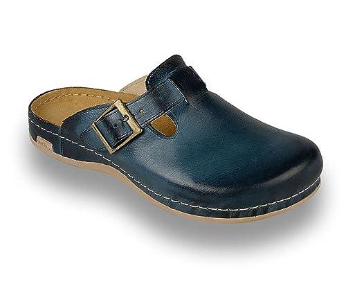 3eb5ff161f4 LEON 707 Zuecos Zapatos Zapatillas de Cuero para Hombre  Amazon.es  Zapatos  y complementos