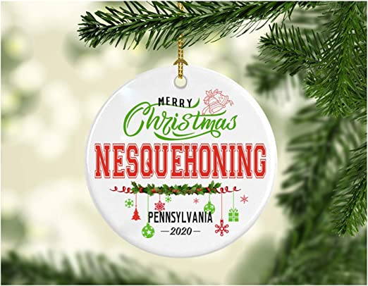 Christmas In Pennsylvania 2020 Amazon.com: Christmas Decorations Tree Ornament   Gifts Hometown