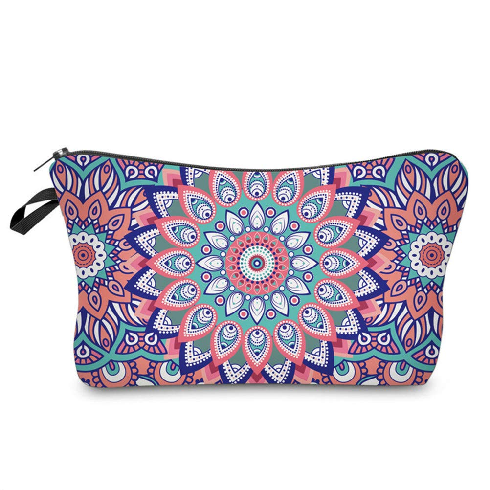 JIFNCR Makeup Bags Multicolor Cosmetics Pouchs For Travel Ladies Pouch Women Cosmetic Bag Travel Beach Organizer