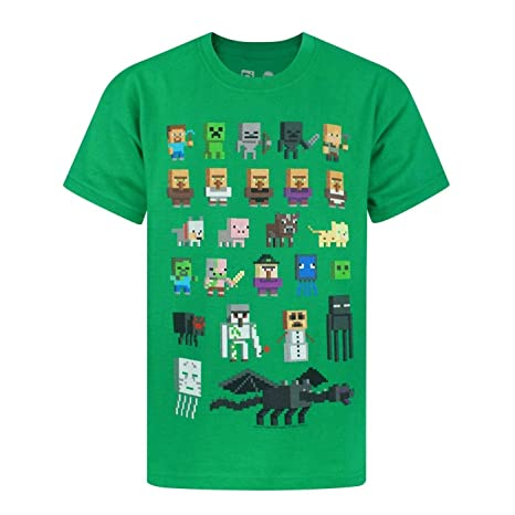 Minecraft - Camiseta Oficial diseño Personajes Sprites para niños  Amazon.es   Ropa y accesorios 969e4f2d0fcc6