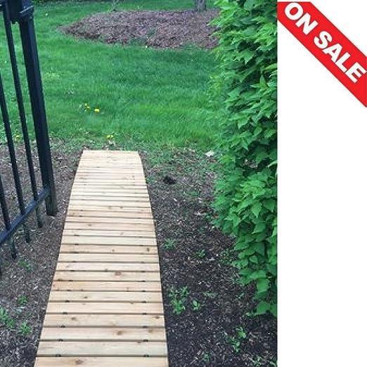 Terminadoras de la alfombrilla de senderos del jardín al aire libre Paisaje de madera jardín decoración jardín PISO adornos de madera de trail & E libro por easy2find.: Amazon.es: Jardín