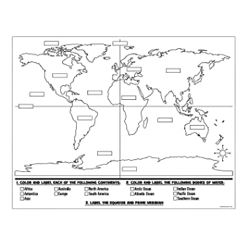 Amazon.com: Color Your Own World Map Posters: Health & Personal Care