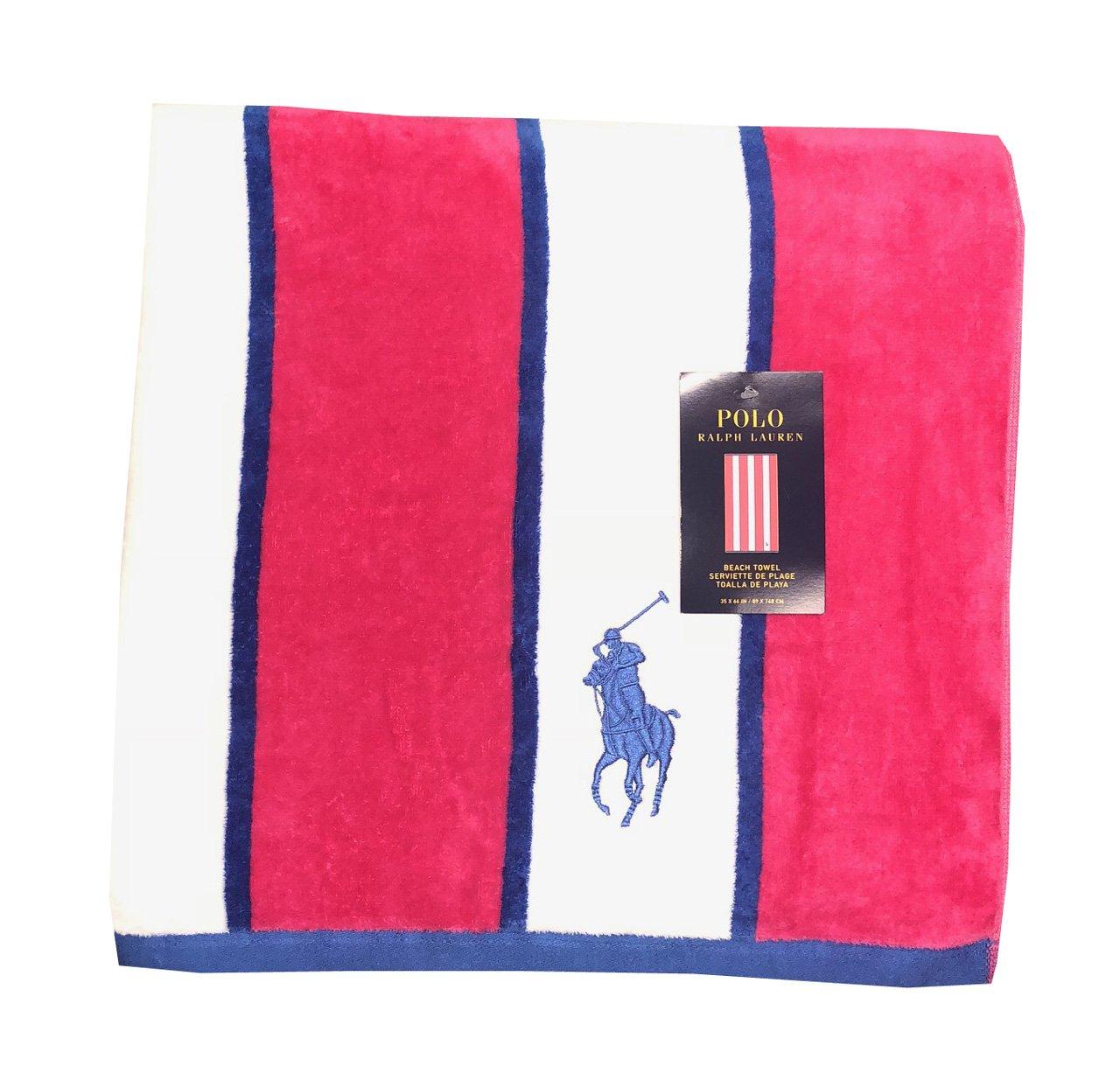 Ralph Lauren Beach Towels.Lovely Polo Ralph Lauren Big Pony Logo Beach Towel Pink
