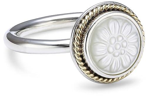 67692615f 91ea4 81672; canada pandora daisy signet stackable ring mother of pearl  190859mop 58 78dce de442