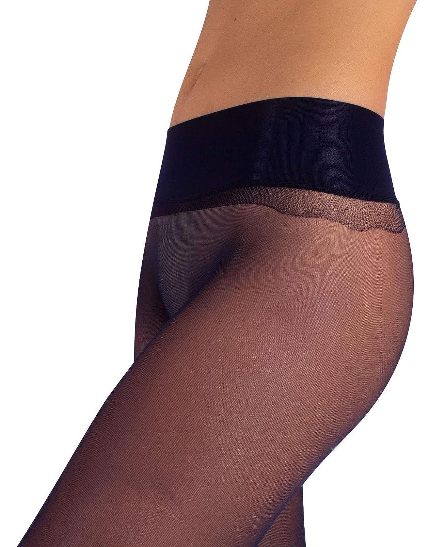 Nero M//L L//XL S 15 DEN Blu Naturale CALZITALY Collant Donna Velati senza Cuciture Effetto Nudo e Fantasia a Pois Made In Italy |