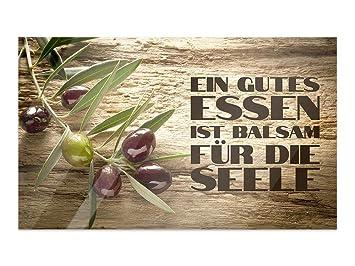 GRAZDesign Wandbilder Glas Wandspruch - Glas Bilder Küche - Bilder ...