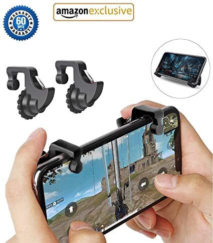 V CAN™ PUBG Phone Gamepad ● PUBG Gaming Joystick for Mobile Trigger ● Fire  Button Aim Key with Fire Shooter Controller Button L1 R1 Joystick - (Black)