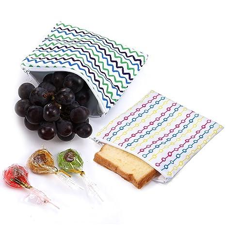 Amazon.com: Bolsa para almuerzo reutilizable con cierre para ...