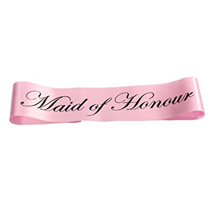 maid of honor sash pink maid of honour sash bachelorette party pink sash