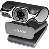 Webcam 1080P HD Computer Web Camera Built in Microphone for Desktop Computer PC Laptop Mac USB Plug and Play for Skype Video Calling (Black)