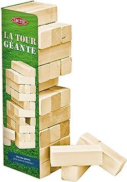 Tactic 40207 - Juego de jenga de madera (50 cm): Amazon.es: Juguetes y juegos