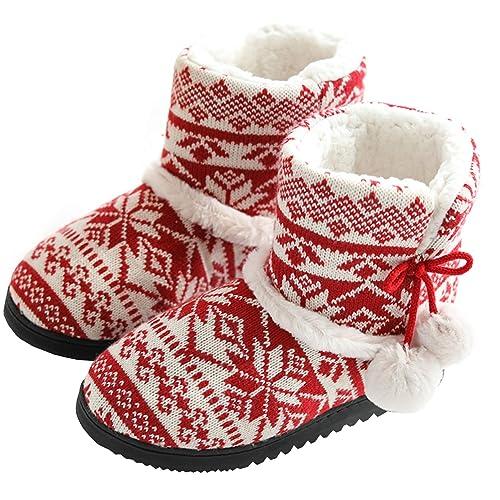 Hausstiefel Damen Aonetiger Winter Hausschuhe Pantoffeln bf6gy7vIY
