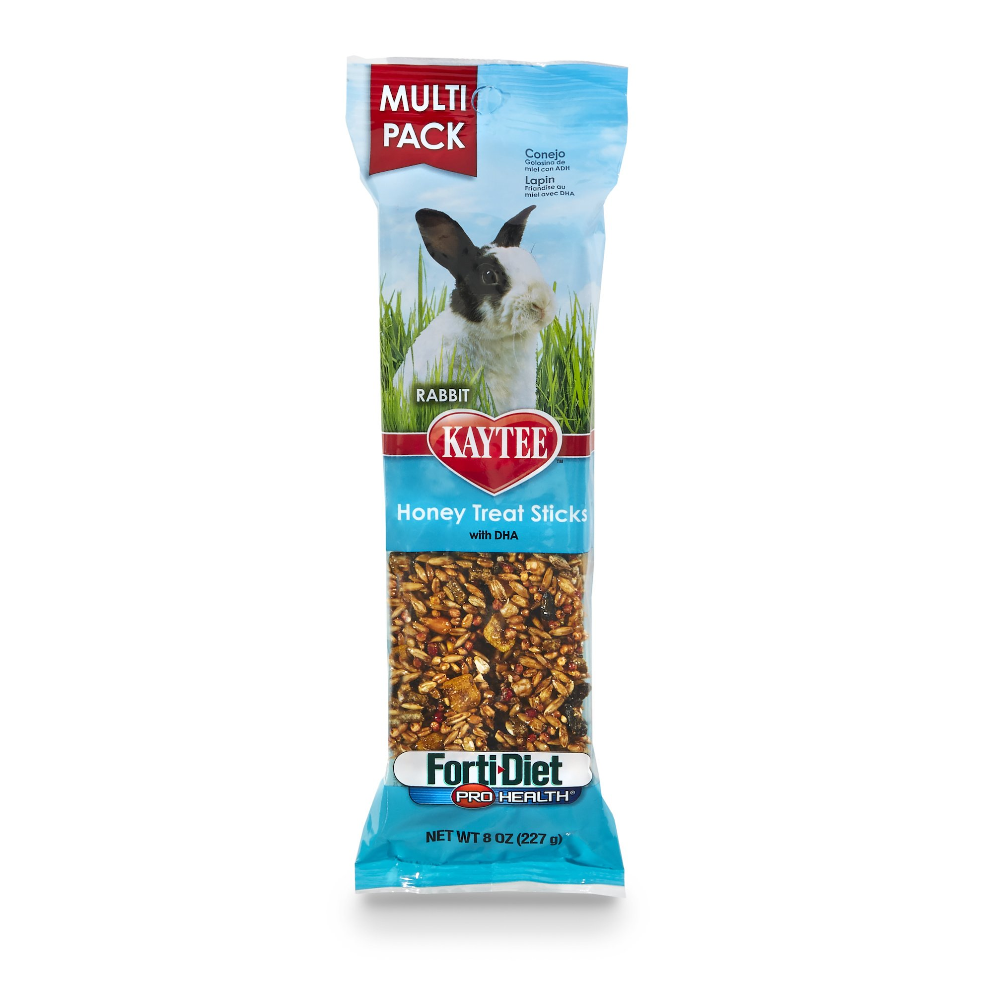 Kaytee Forti-Diet Pro Health Rabbit Treat, Honey Treat Stick Value Pack, 8-Ounce