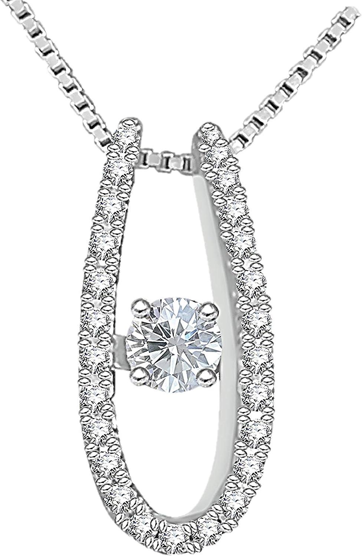 Oxford Diamond Co Round Lavender Cz Pendant .925 Sterling Silver Pendant Necklace