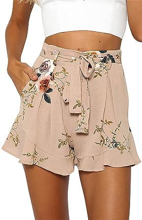 e6e251c970f0 Flying Rabbit Damen Hosen Damen Sommer Gedruckte Kurzschlüsse Hohe Taillen Kurze  Hosen heiße Hosen-Strand