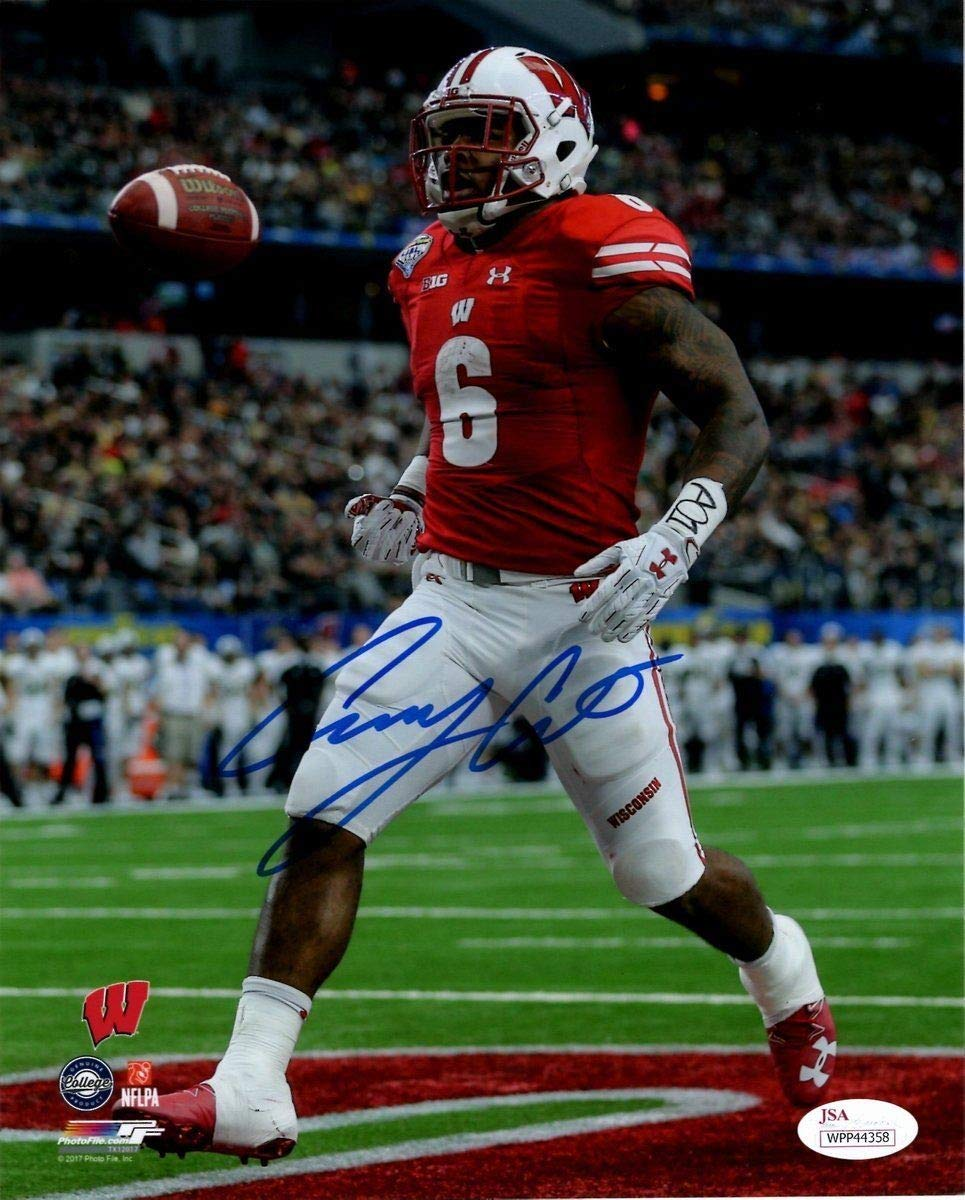3b5b50ef4e2 Corey Clement Wisconsin Badgers Autographed Signed Autograph 8x10 Photo Sports  Memorabilia JSA 135502 at Amazon's Sports Collectibles Store