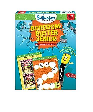 Skillmatics Educational Game: Boredom Buster Senior, 6-9 Years, Blue