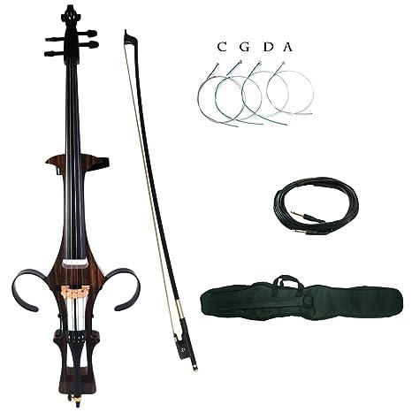 Kinglos 4/4 Madera Maciza De Colores Kit de/Silent para violonchelo eléctrico con