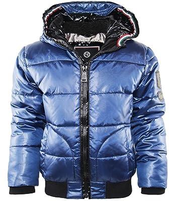 Reset - Chaqueta - chaqueta guateada - para niño azul 116 cm: Amazon.es: Ropa y accesorios