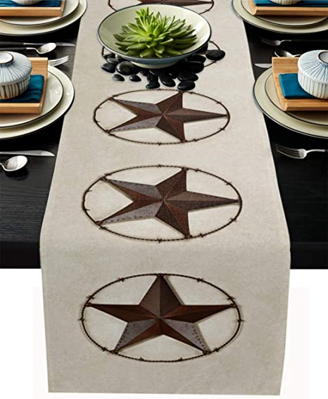 Fall country table runner Rustic chic runner Farmhouse table runner Kitchen island decor