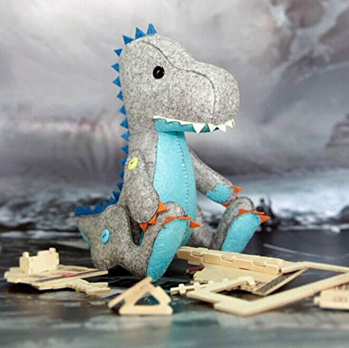 DIY Sewing Polyester Felt Nonwoven Fabric Craft Kit Doll Kits : Make Your Own Doll-Dinosaur CYD
