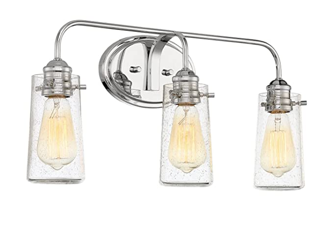 Revel Rayne 22.5u0026quot; Modern 3 Light Vanity/Bathroom Light, Bubble Glass +