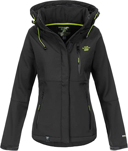 Geographical Norway Touna B - Chaqueta softshell con capucha para mujer