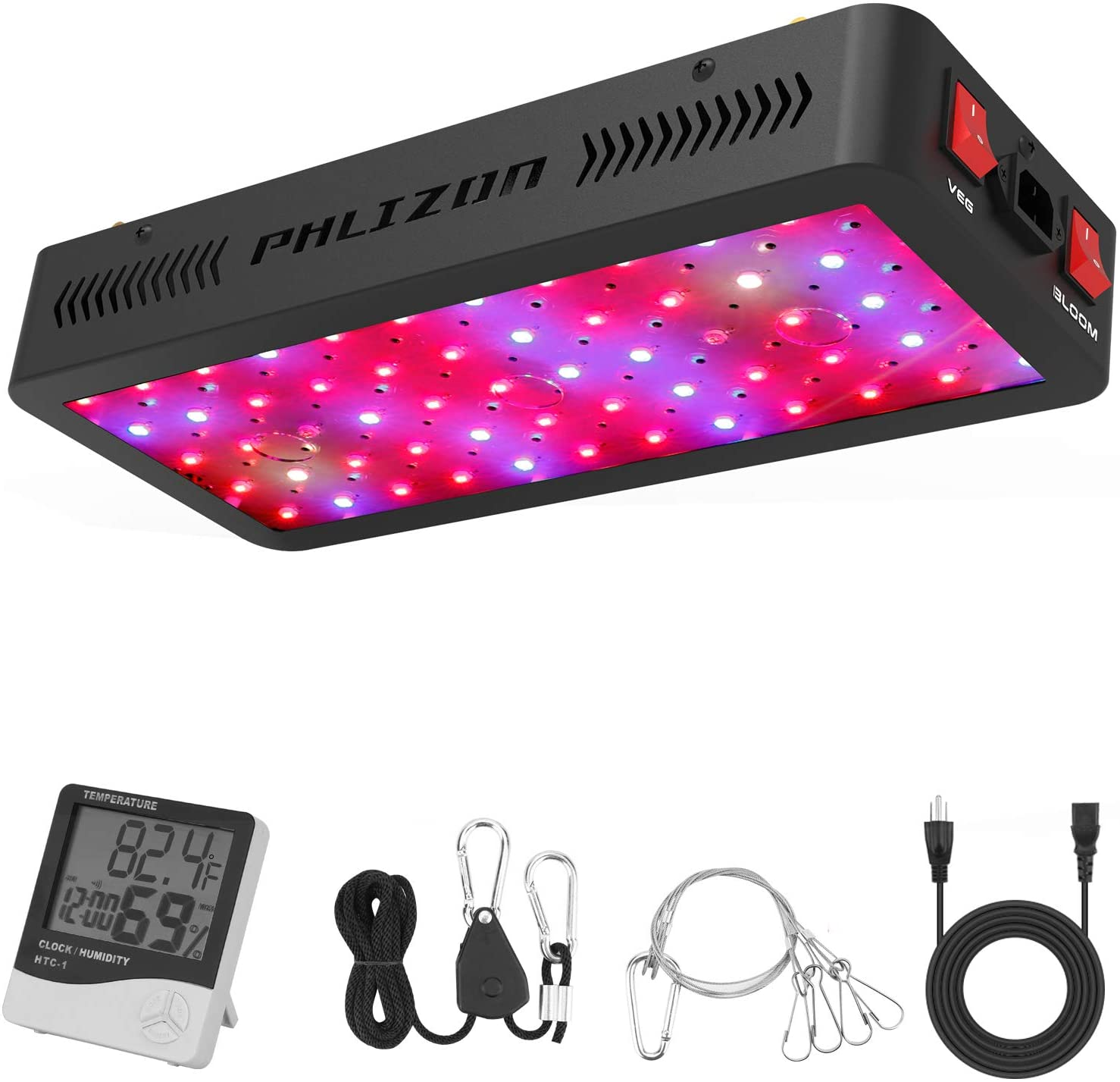 Phlizon Full-Spectrum LED Grow Light w