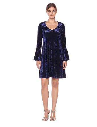 0671875020d Karen Kane Women s Velvet Bell Sleeve Dress at Amazon Women s ...