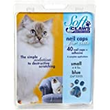 Soft Claws for Cats - CLS (Cleat Lock System), Size Small, Color Blue