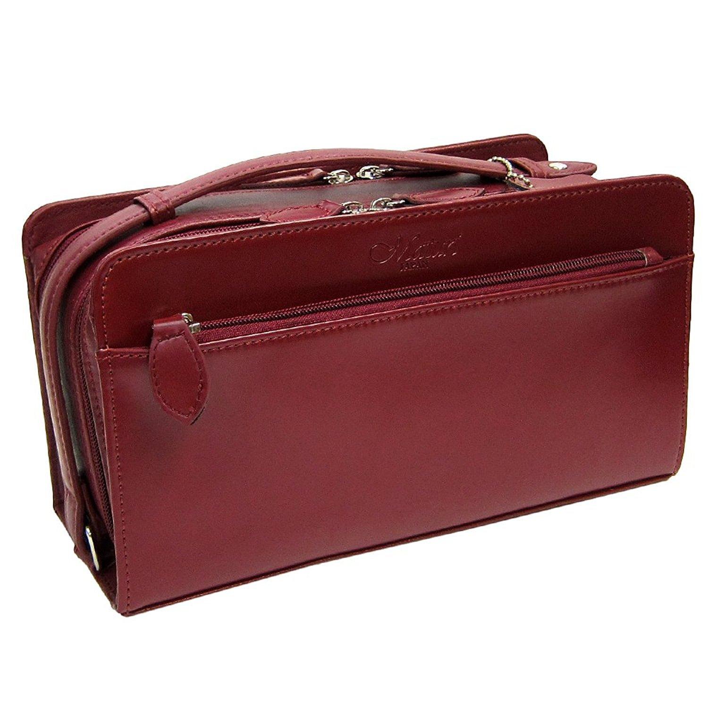 鞄 セカンドバッグ コードバン ポケット多い 大容量 ダブルファスナー式 普段使い 414 (ワイン) B01M5BDR5A ワイン ワイン