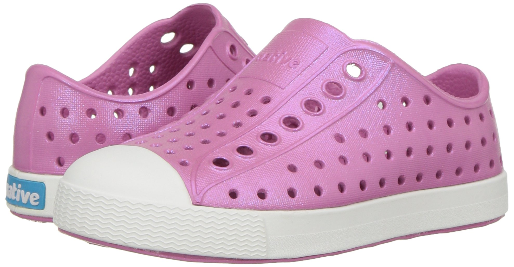 native Kids Iridescent Jefferson Water Proof Shoes Malibu Pink