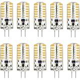 KINGSO G4 LED Bulb 10 Pack 3W Bi-Pin LED Light Bulb 48×3014 SMD 20W Halogen Bulb Equivalent Silicone Coated Shatterproof 220