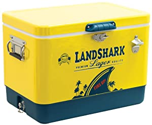 Margaritaville 54 Quart Steel Portable Cooler with Bottle Opener - Landshark