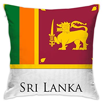 Amazon Com Zkiresd Sri Lanka Flag Decor Throw Pillow Covers Throw