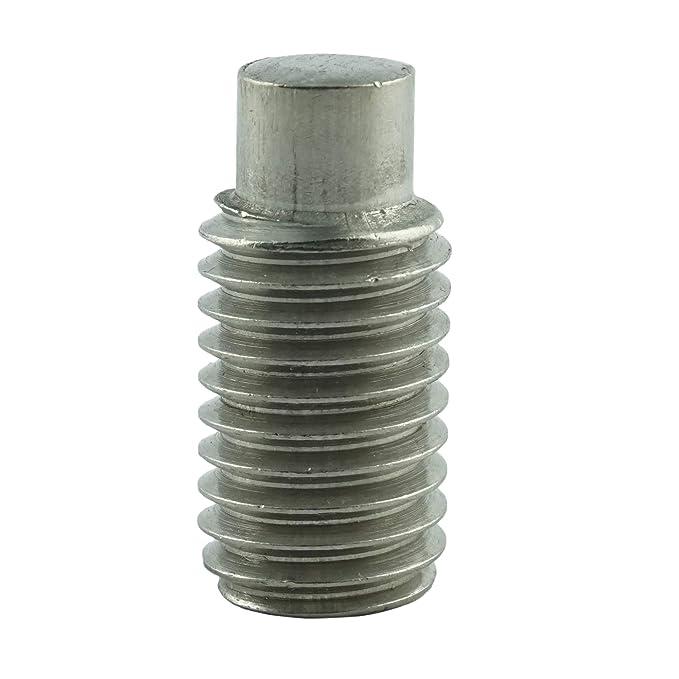 rostfrei M6 x 35 mm Gewindestift mit Innensechskant und Zapfen 50 St/ück Eisenwaren2000 - Madenschrauben DIN 915 ISO 4028 Gewindeschrauben Edelstahl A2 V2A