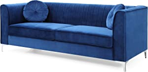 Glory Furniture Delray Sofa, Navy Blue. Living Room Furniture, 3 Seater