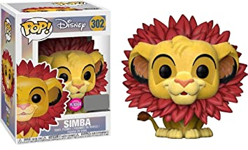 Figura Pop Disney The Lion King Simba Flocked Exclusive