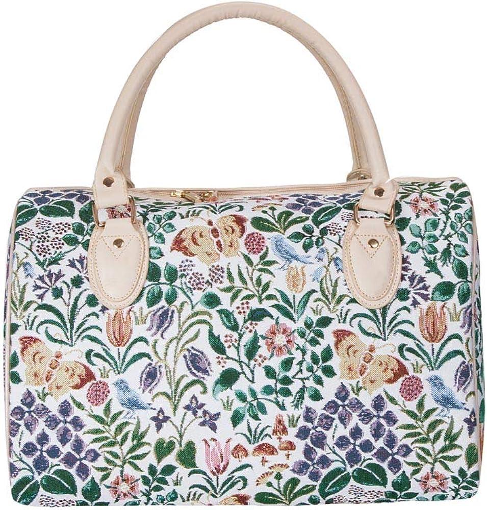 Signare Tapiz bolso grande mujer bolsas de viaje bolso de viaje mujer fin de semana con dise/ño de flores y criaturas de jard/ín