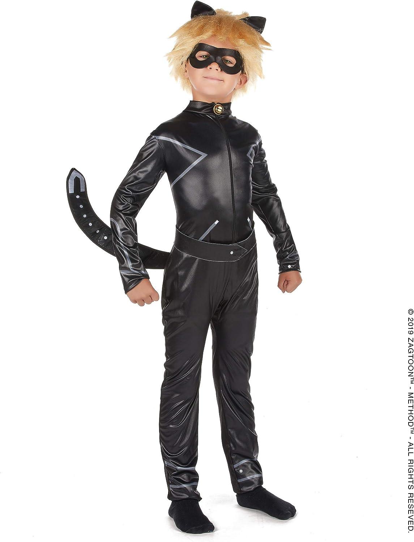 Vegaoo - Disfraz Miraculous Cat Noir niño - XS 3-4 años (92-104 cm ...