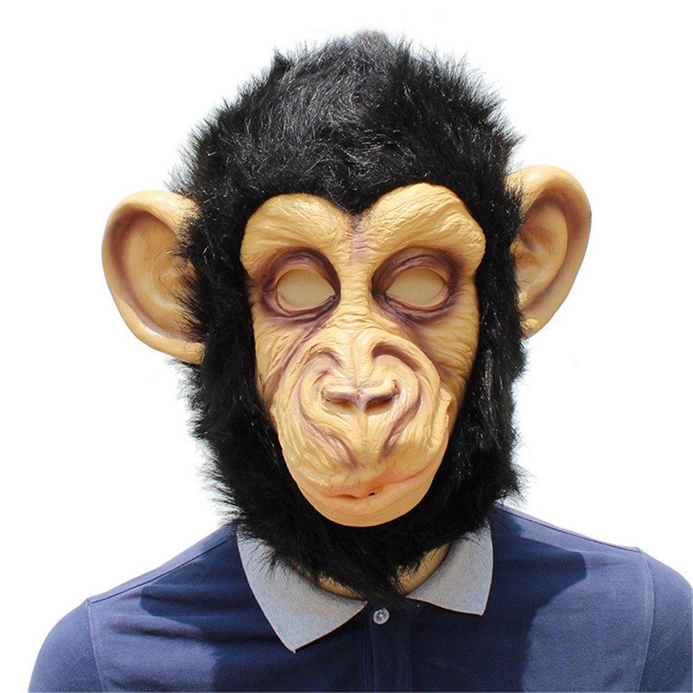 HBWJSH Mascherina del Lattice incappucciata Orangutan di Halloween Party Party Show