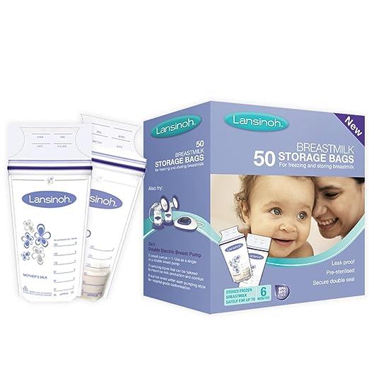 348 opinioni per Lansinoh Sacchetti per Latte Materno, Confezione da 50